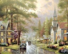 Teoksia taiteilijalta Thomas Kinkade (Thomas Kinkade) (68 teokset)
