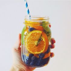 Orange + Blueberry + Mint Detox Water