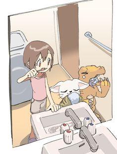 Digimon Seasons, Digimon Wallpaper, Gatomon, Digimon Digital Monsters, Digimon Adventure Tri, Fanart, Nerd Geek, Manga Drawing, My Childhood