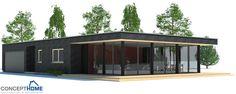 Detalhes de plano de piso da casa contemporânea ch183. Planta de Casa