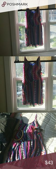 Sale Express Rich Color Swing Dress From Express Worn once Amazing Colors Size M express  Dresses Mini