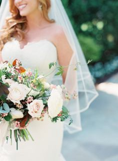 Gorgeous burgundy and blush bouquet: http://www.stylemepretty.com/tennessee-weddings/nashville/2015/08/28/charming-burgundy-and-cream-nashville-wedding/ | Photography: Cassidy Carson -http://www.cassidycarsonphotography.com/#cassidy-carson-photography