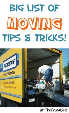 BIG List of Moving Tips and Tricks! ~ from TheFrugalGirls.com - Planning a Move? You'll love these fun packing and moving tips to help your move to a new home go smoothly! #thefrugalgirls