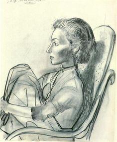 Untitled, 1954 by Pablo Picasso. Neoclassicism. portrait