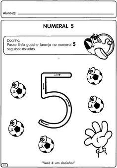 Atividades para Educação Infantil: Numerais de 1 a 5 - ESPAÇO EDUCAR Handwriting Worksheets, Preschool Activities, Kindergarten, Teaching, Playing Cards, Professor, Pictures, Bonding Activities, Numbers Preschool