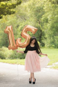This fun shot was taken at Robbins Preserve in Davie, Florida by Melissa over at Moon Art Photography. Balloons Photography, Birthday Photography, Girl Photography Poses, Sweet Sixteen Pictures, Sweet 16 Photos, Tumblr Birthday, Downtown Photography, Teen Photo Shoots, Happy 15th Birthday