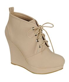 Look at this #zulilyfind! Nude Ranch Bootie by Bamboo #zulilyfinds AND I just bought them yeah !