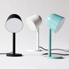 This simple lamp has a bell-shaped shade similar to a wild flower