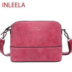 INLEELA 뜨거운 판매 빈티지 여성 가방 누벅 어깨 가방 작은 크로스 바디 가방 패션 여성 메신저 가방
