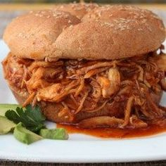 Zesty Slow Cooker Chicken Barbecue - Allrecipes.com
