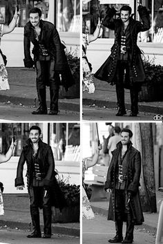 Hook on set of once upon a time season 4