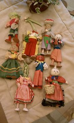Vintage Italian Vegetable Dolls