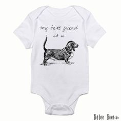 Hey, I found this really awesome Etsy listing at https://www.etsy.com/listing/170359639/basset-hound-baby-trendy-baby-clothes