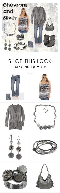 """Chevrons and Silver Plus Size"" by marianne333 ❤ liked on Polyvore featuring Mossimo, Kenneth Cole, Not Rated, women's clothing, women's fashion, women, female, woman, misses and juniors"