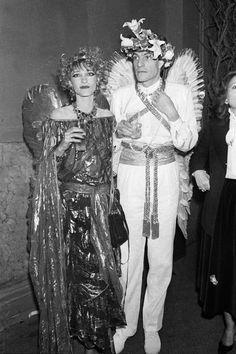 1978: Avec mari Thadée Klossovski lors d'une fête en l'honneur de leur mariage à Paris