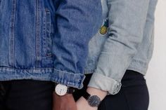 Daniel Wellington Couple // Black and White // Denim Patch jacket Off Black, Black And White, Denim Jacket Patches, White Denim, Daniel Wellington, African, Couple, Pants, Jackets