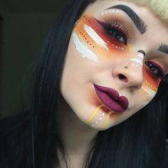 Resultado de imagen de mujer loba maquillaje