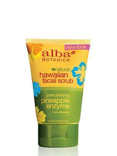 Alba Botanica Natural Hawaiian Face Scrub:  smells yummy