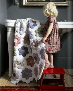 I love the quilt, but more importantly...doesn't that look exactly like Mirielle?? (from the back of course!)