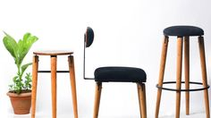 Product designer Nifemi Marcus-Bello works with local processes and artisans in Lagos to make affordable, lightweight furniture for aspiring, urban Nigerians. Consumer Culture, Intelligent Design, Inspiring Things, Affordable Furniture, African Design, West Africa, Bellisima, Bar Stools, Urban