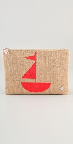 Jute Sailboat Pouch / Jonathan Adler wins at life