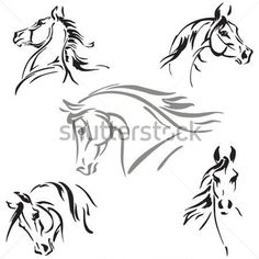 Cabeça DE Cavalo Estudos Estudos DE Cabeças DE Cavalo Com Base Em Desenhos DE imagem vetorial - Clipart.me