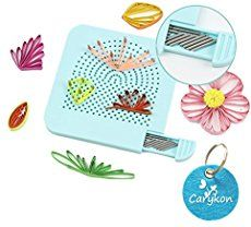 Carykon Roll Quiller's Grid Guide Quilling Board with Pins Storage for Paper Crafting Winder Roll Square Craft DIY Tool (Light Blue) Diy Quilling Crafts, Paper Quilling Tutorial, Paper Quilling Patterns, Quilling Cards, Diy Crafts, Quilling Work, Quilling Flowers, Paper Folding Crafts, Paper Crafts