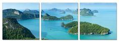 Island Exploration. Contemporary Art, Modern Wall Decor, 3 Panel Wood Mounted Giclee Canvas Print, Ready to Hang... - Listing price: $169.00 Now: $69.99