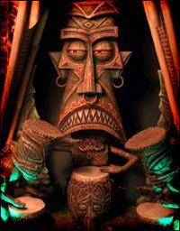 """Resultado de imagem para """"Babylon Vampire"""" Blood drinking Automaton by Thomas Kuntz Tiki Hut, Tiki Tiki, Tiki Hawaii, Tiki Statues, Tiki Bar Decor, Tiki Totem, Tiki Lounge, Tiki Mask, Tiki Party"""