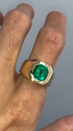 silver ring 18kt gold sapphire blue emeralds cz handmade fashion unisex wonderful women/'s fashion made in italy rome