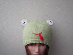 Cyber Monday  sale free shipping Cheeky frog hat by HotScones, $45.00