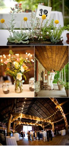 Love the Yellow, lights, and flowers    Mount Gulian Historic Site Wedding by Fede Photography | Style Me Pretty