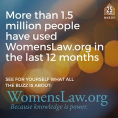 Over 1.5 million people used WomensLaw.org last year. Love shouldn't hurt. End domestic violence. #endDV