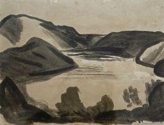 Colin McCahon - Landscape, 1949