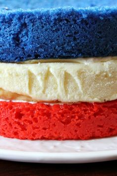 Red White and Blue Cheesecake Cake 4