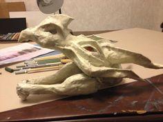 Paper Mache Dragon Head Details