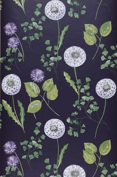 Tauria | Floral wallpaper | Wallpaper patterns | Wallpaper from the 70s