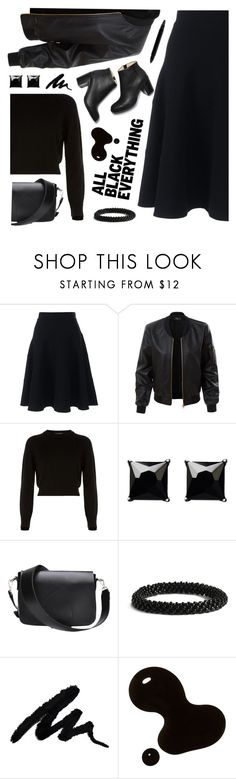 """""""Untitled #2477"""" by countrycousin ❤ liked on Polyvore featuring Lands' End, LE3NO, Helmut Lang, Witchery, Cole Haan, Serge Lutens and allblackoutfit"""
