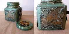 DIY Recycled Altered Glass Jar ~ creative idea using jewelry accents!