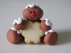 *POLYMER CLAY ~ Clay Gingerbread Man with Cookie