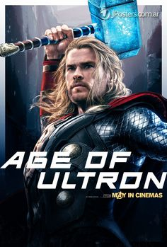 Thor - New AVENGERS: AGE OF ULTRON Character Promo Posters Revealed