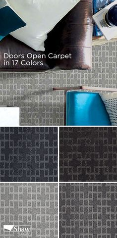 Enjoy 17 stylish and nuetral shades of Doors Open carpet by Shaw Floors. This carpet is from the luxurious Caress line and is an excellent choice when you want super-soft carpeting. Find your perfect shade today.