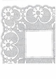 Archivo de álbumes - plantillas de sonseca Cutwork Embroidery, Lacemaking, Cut Work, Bobbin Lace, Crochet Patterns, Frame, Crafts, Beautiful, Ideas