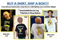 Every Shirt Purchased Ships One Hope Box!