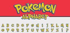 Printable Pokemon alphabet