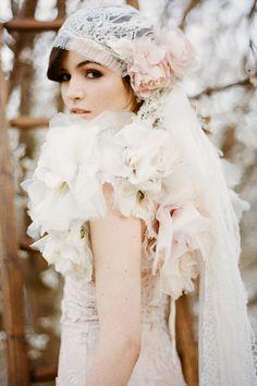floral bolero! Blush Juliette Cap