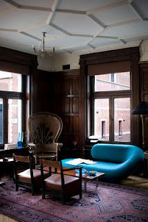 Kettner's in London's Soho by Ilse Crawford. Love the mix of moody and poppy and old and new.