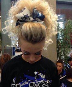 goals af Cheer Ponytail, Cheer Hair, Cheer Bows, Cheerleading Hair, Hair Inspiration, Hair Ideas, Hairstyles, Goals, Big