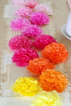 Cinco De Mayo: Kid Style  Tissue Paper Flowers  #Mexican #Fiesta #BirthdayParty #Party #Kids #Flowers  www.AZFoothills.com