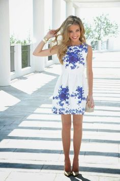 17 Fashionable Blue Dress Ideas for Lovely Women